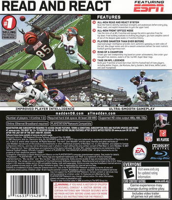 Madden NFL 08 PS3 backM (BLUS30037)