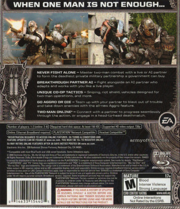 Army of Two PS3 backM (BLUS30057)