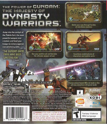 Dynasty Warriors: Gundam PS3 backM (BLUS30058)