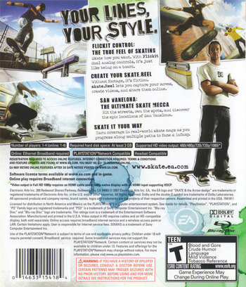 Skate PS3 backM (BLUS30059)