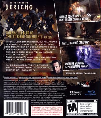 Clive Barker's Jericho PS3 backM (BLUS30063)