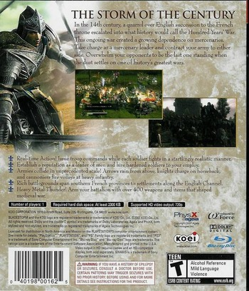 Bladestorm: The Hundred Years' War PS3 backM (BLUS30070)