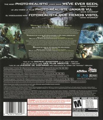 Call of Duty 4: Modern Warfare PS3 backM (BLUS30072)