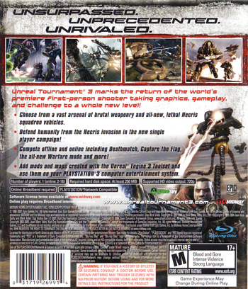 Unreal Tournament III PS3 backM (BLUS30086)