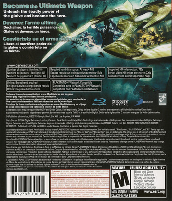 Dark Sector PS3 backM (BLUS30116)