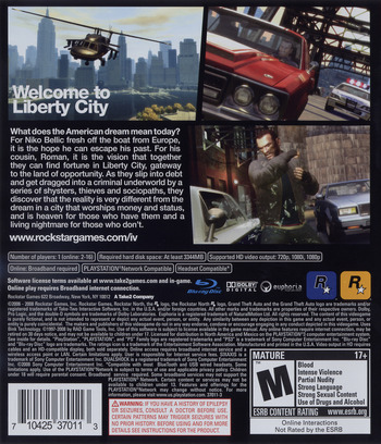 Grand Theft Auto IV PS3 backM (BLUS30127)