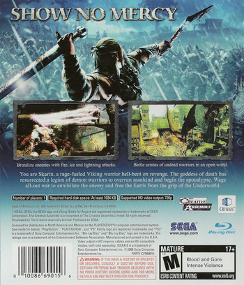 Viking: Battle for Asgard PS3 backM (BLUS30129)
