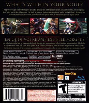 Soul Calibur IV PS3 backM (BLUS30160)