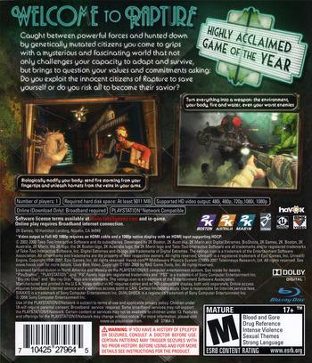 BioShock PS3 backM (BLUS30166)