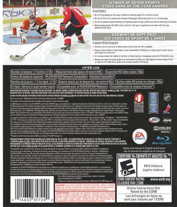 NHL '09 PS3 backM (BLUS30168)