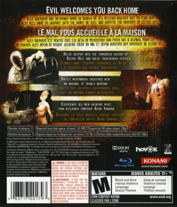 Silent Hill: Homecoming PS3 backM (BLUS30169)