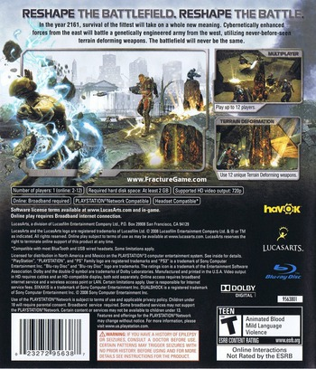 Fracture PS3 backM (BLUS30184)