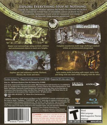 Tomb Raider: Underworld PS3 backM (BLUS30224)