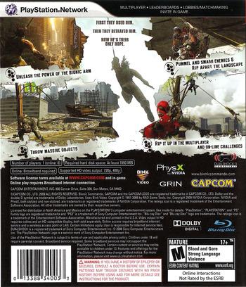 Bionic Commando PS3 backM (BLUS30255)