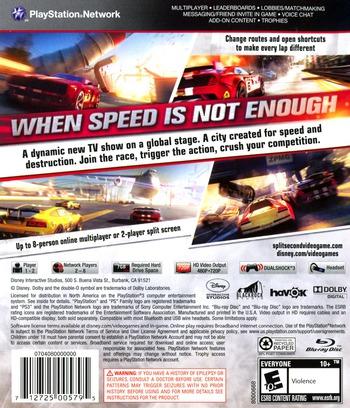 Split / Second PS3 backM (BLUS30300)