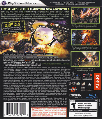 Ghostbusters: The Video Game PS3 backM (BLUS30307)