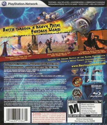 Brutal Legend PS3 backM (BLUS30330)
