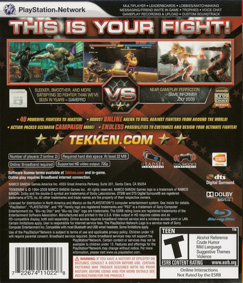 Tekken 6 PS3 backM (BLUS30359)