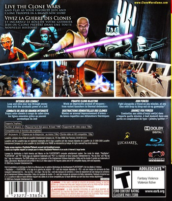 Star Wars The Clone Wars: Republic Heroes PS3 backM (BLUS30394)