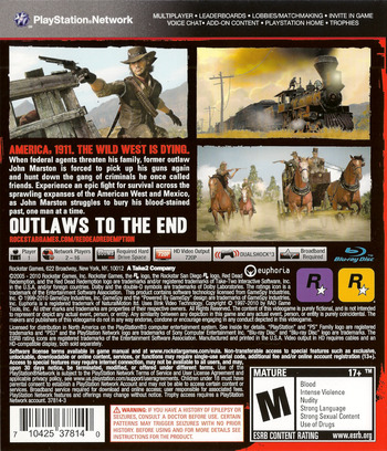 Red Dead Redemption PS3 backM (BLUS30418)