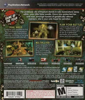 BioShock 2 PS3 backM (BLUS30420)