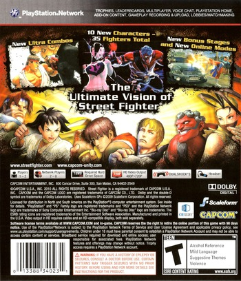 Super Street Fighter IV PS3 backM (BLUS30453)