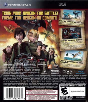 How to Train Your Dragon PS3 backM (BLUS30461)
