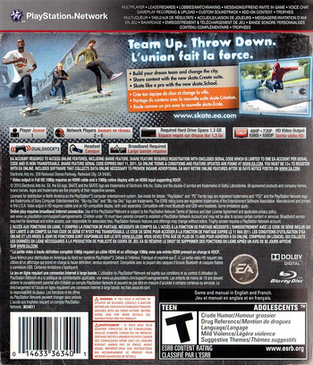 Skate 3 PS3 backM (BLUS30464)