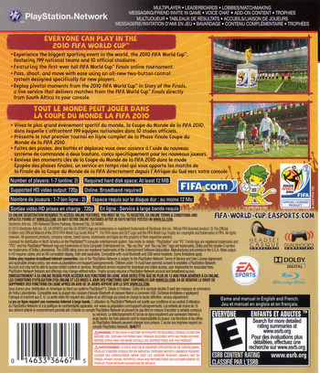 FIFA World Cup 2010: South Africa PS3 backM (BLUS30474)