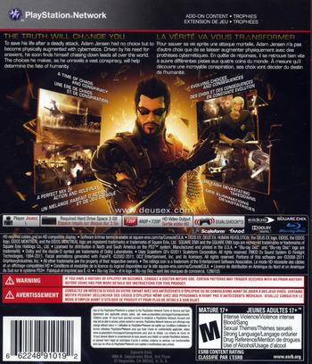 Deus Ex: Human Revolution PS3 backM (BLUS30476)