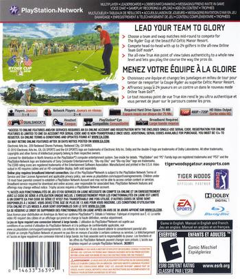 Tiger Woods PGA Tour '11 PS3 backM (BLUS30489)