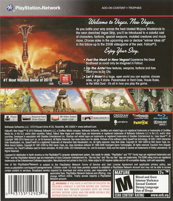 Fallout: New Vegas PS3 backM (BLUS30500)