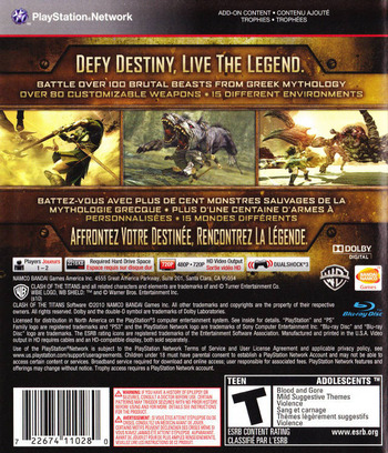 Clash of the Titans: The Video Game PS3 backM (BLUS30505)