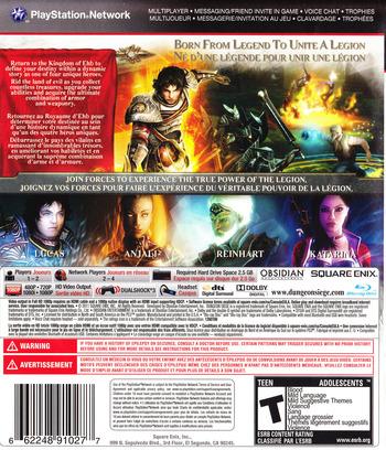 Dungeon Siege III PS3 backM (BLUS30510)