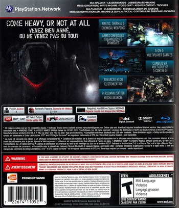 Armored Core V PS3 backM (BLUS30516)