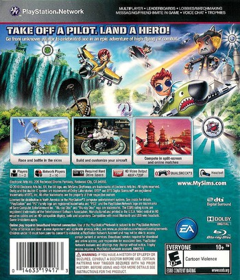 MySims SkyHeroes PS3 backM (BLUS30520)