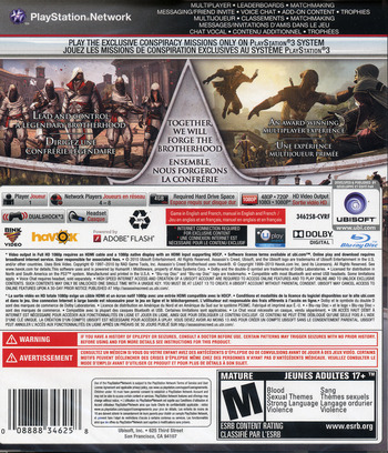 Assassin's Creed: Brotherhood PS3 backM (BLUS30537)