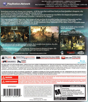 Two Worlds II PS3 backM (BLUS30550)