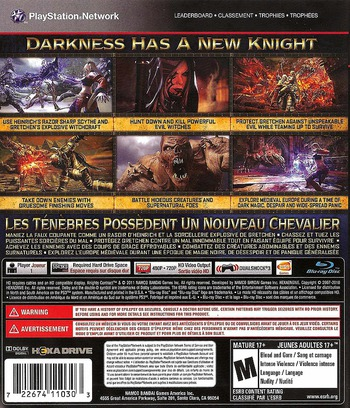 Knights Contract PS3 backM (BLUS30582)