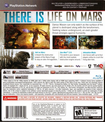Red Faction: Armageddon PS3 backM (BLUS30585)