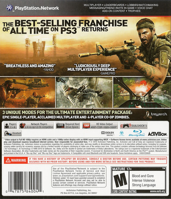 Call of Duty: Black Ops PS3 backM (BLUS30591)