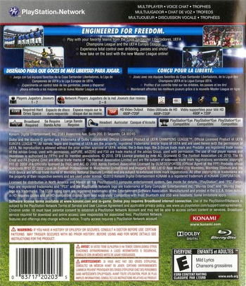 Pro Evolution Soccer 2011 PS3 backM (BLUS30610)