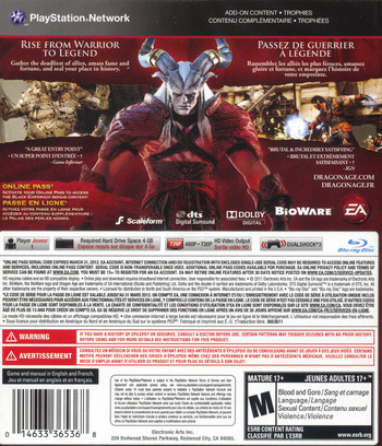 Dragon Age II PS3 backM (BLUS30645)