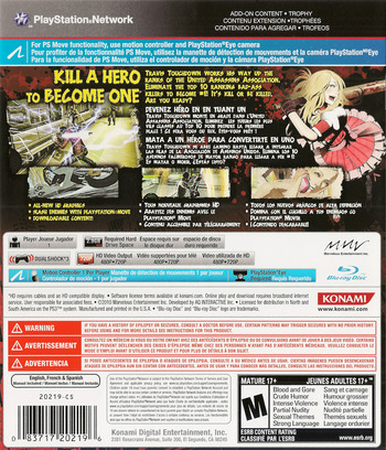 No More Heroes: Heroes' Paradise PS3 backM (BLUS30652)