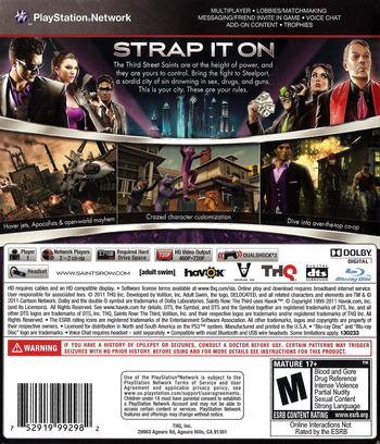 Saints Row: The Third PS3 backM (BLUS30666)