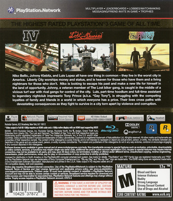 Grand Theft Auto IV: The Complete Edition PS3 backM (BLUS30682)