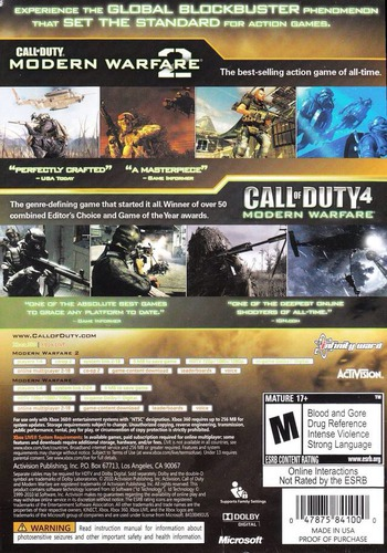 Call of Duty: Modern Warfare Collection PS3 backM (BLUS30695)