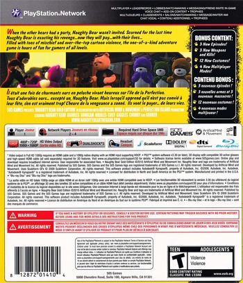 Naughty Bear Gold Edition PS3 backM (BLUS30700)