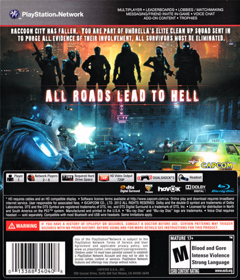 Resident Evil: Operation Raccoon City PS3 backM (BLUS30750)
