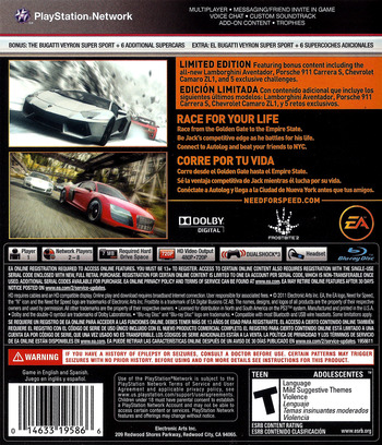 Need for Speed: The Run PS3 backM (BLUS30757)